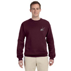 Jerzees Adult Mid-Weight Crewneck Sweatshirt - Embroidered