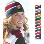 Sportsman Acrylic Knit Striped Beanie