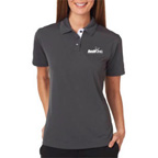 UltraClub Ladies Platinum Performance Birdseye Polo Shirt