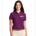 Port Authority Ladies Silk Touch Polo Shirtt - Embroidered