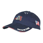 Cotton Cap w/Woven Flag Sandwich