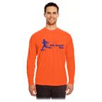 UltraClub Adult Cool and Dry Sport Long-Sleeve Performance Interlock T-Shirt