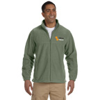 Harriton Mens 8 oz. Full-Zip Fleece