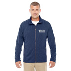 Embroidered Devon and Jones Mens Fairfield Herringbone Full-Zip Jacket