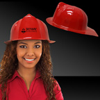 Plastic Red Fire Fighter Hat