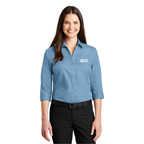 Port Authority Ladies 3/4 Sleeve Carefree Poplin Shirt