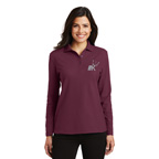 Port Authority Ladies Silk Touch Long Sleeve Polo Shirt