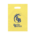 Aster 9 1/2 x 14  FROSTED DIE CUT BAG-Ink Imprint