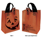 Orange Frosted Pumpkin Shopper Bag