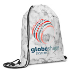 Marble Non Woven Drawstring Backpack