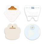 3x3 Adhesive Sticky Notepad - Die Cut Custom or Stock Shape - 25 Sheet