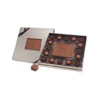 Square Chocolate Truffle Box with Window and  Custom Centerpiece