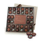 Executive Square Sampler Chocolate Candy Box w/ Window