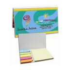 Full Color Sticky Note W/ Flags Book