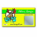 2 x 3.5 Inch Scratch off Card