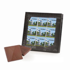 9 Belgian Chocolate Squares Gift Box - Custom Imprinted Wrappers