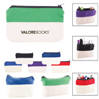 Cotton Two Tone Pencil School Supply Case