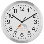 Slim Metal Wall Clock