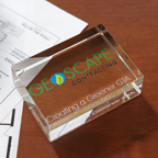 Rectangle Paperweight Award