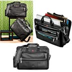 Wenger Leather Double Compartment Attache Bag