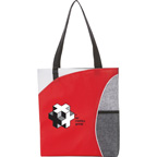Mesh Pocket Non Woven Convention Tote Bag