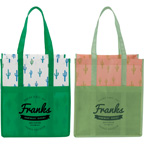 Cactus Laminated Shopper Tote Bag