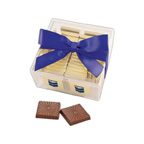 36 Belgian Chocolate Squares in Acrylic GIft Box