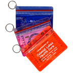 XL waterproof wallet with key ring and First Aid Kit