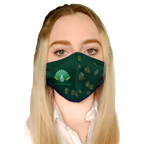 Single Layer Antimicrobial Dye Sublimated Face Mask