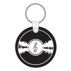 Record Shape Soft Squeeze Key Tag
