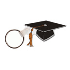 Graduation Cap Shape Key Tag