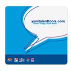 7.5x8 Mousepad - Fabric Surface - 1/8 Thick Rubber
