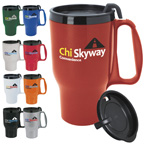 Budget Traveler(TM) Mug with Slider Lid - 16 oz.