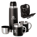 Stainless Steel Flask and Cups Travel Set
