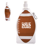 HydroPouch 22 oz Football Collaspible Water Bottle