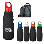 24 Oz. Matte Finish Crest Carabiner Sports Bottle