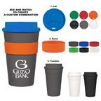 Mix and Match Color Travel 16 oz Tumbler Mug