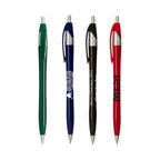 Slimster Colored Click Pen with Silver Trim