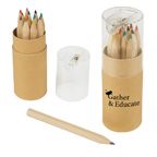 12 Piece Colored Pencils Tube with Sharpener