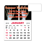 3 X 3.875 Adhesive or Magnet Calendar Pad - Rounded