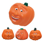 Pumpkin with Face Stress Reliever