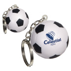 Stress Reliever Soccer Ball Key Tag
