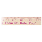 12 Inch Natural Finish Wood Ruler