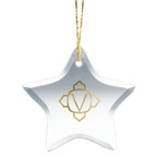 Star Shape Glass Ornament