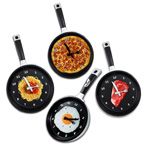 Frying Pan Clock W/ Stock Graphic