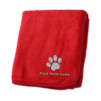 Embroidered 50 x 60 Micro Plush Coral Fleece Blanket