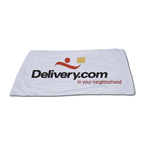 White Velour Beach Towel