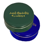 Colored Cookie Tins- Small