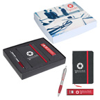 Journal Power Bank And Pen Gift Set