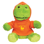 6 Inch Fantastic Plush Frog With Hoodie